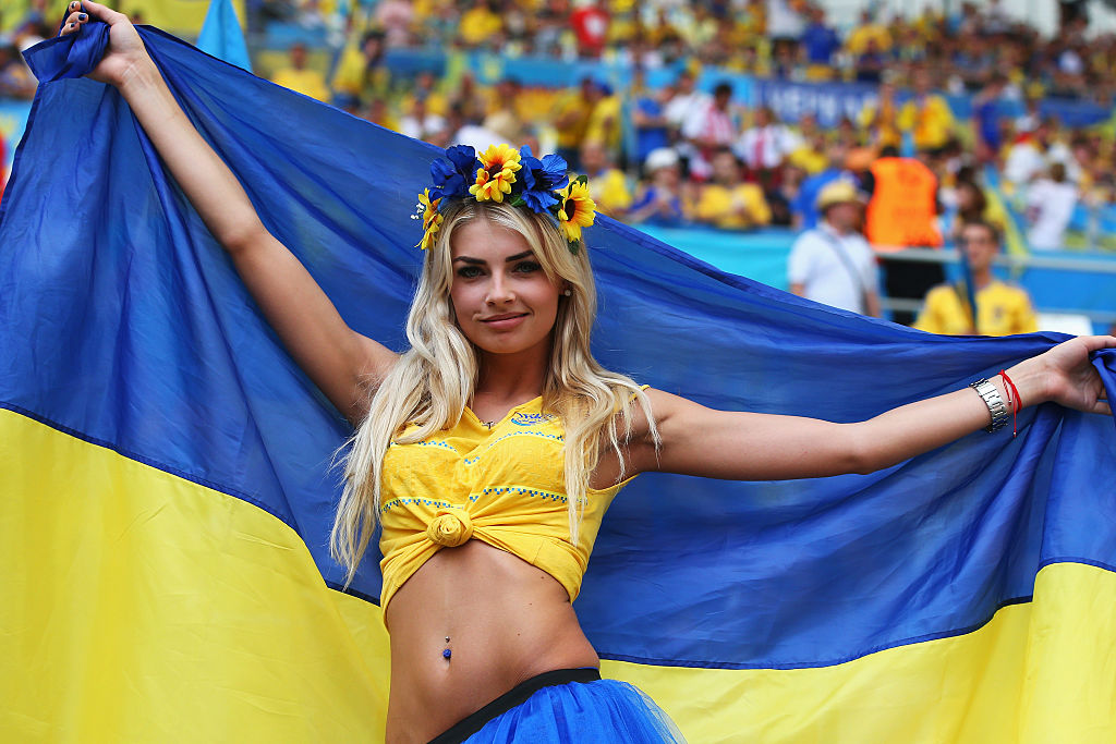 MARSEILLE, FRANCE - JUNE 21:  A Ukraine fan poses prior to the UEFA EURO 2016 Group C match between Ukraine and Poland at Stade Velodrome on June 21, 2016 in Marseille, France.  (Photo by Alex Livesey/Getty Images)