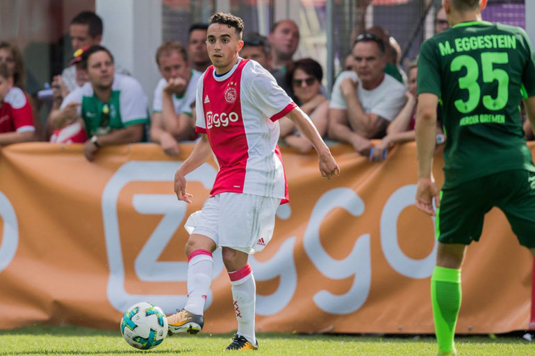 Abdelhak Nouri of Ajax during the friendly match between Ajax Amsterdam and SV Werder Bremen at Lindenstadion on July 08, 2017 in Hippach , Austria(Photo by VI Images via Getty Images)