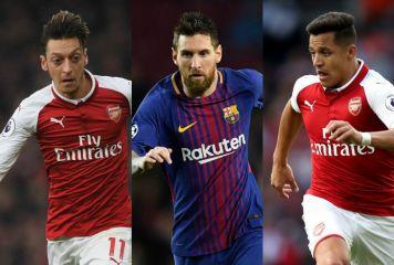 「今季契約満了ベスト11」をスペイン紙選出 メッシやエジル、長友の同僚ら大物揃い