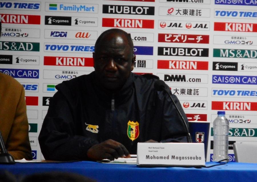 マリを率いるモハメド・アガスバ監督【写真:Football ZONE web】