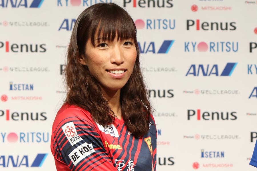 INAC神戸レオネッサの新キャプテンに就任した中島【写真:Football ZONE web】