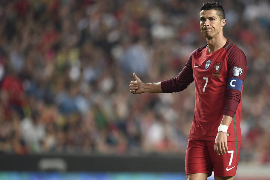 ポルトガル代表、絶対的エースのロナウド【写真:Getty Images】