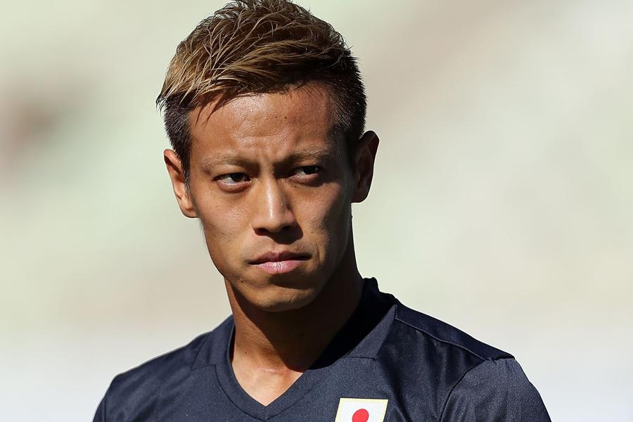 代表復帰の本田、後半途中出場も…【写真:Getty Images】