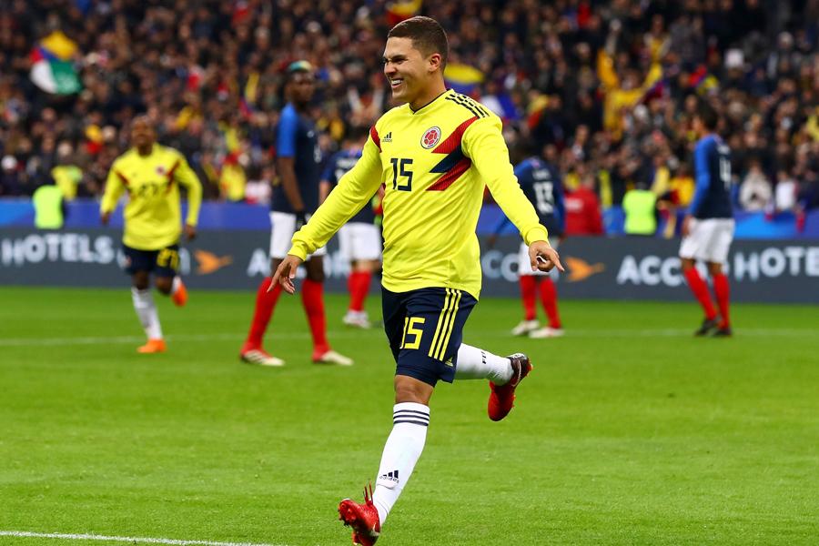 決勝ゴールを挙げた、フアン・キンテーロ【写真:Getty Images】