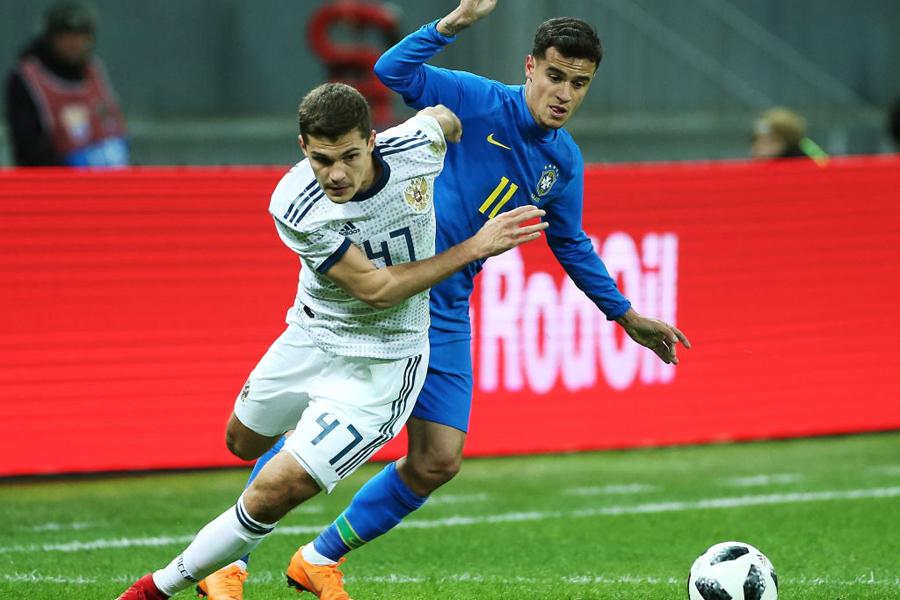 ブラジル代表は開催国のロシア代表に3-0で完勝【写真:Getty Images】
