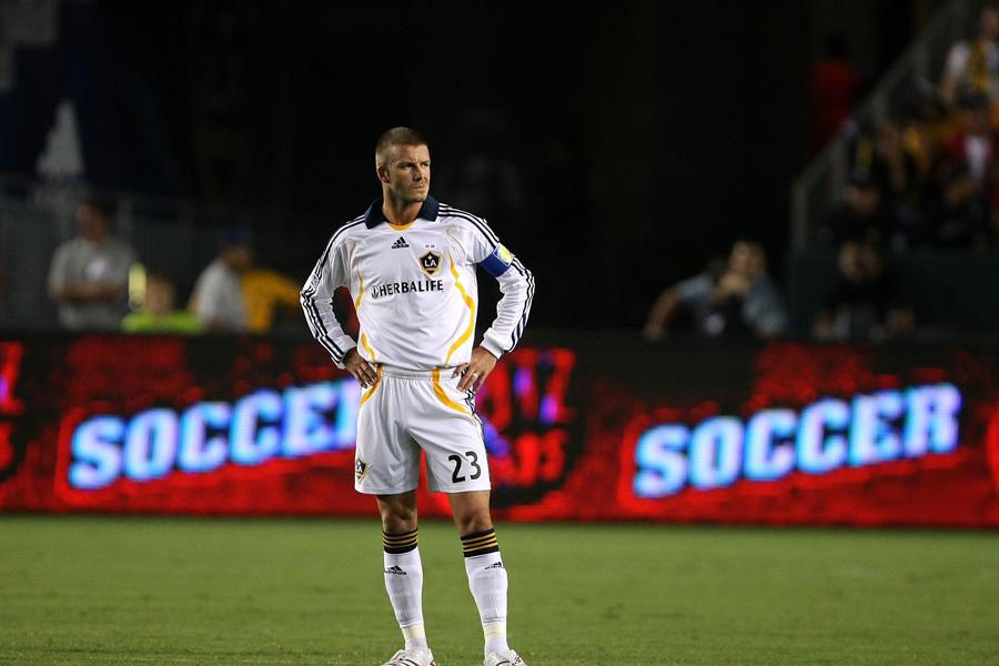 2007年、MLSのLAギャラクシーに加入したベッカム【写真:Getty Images】