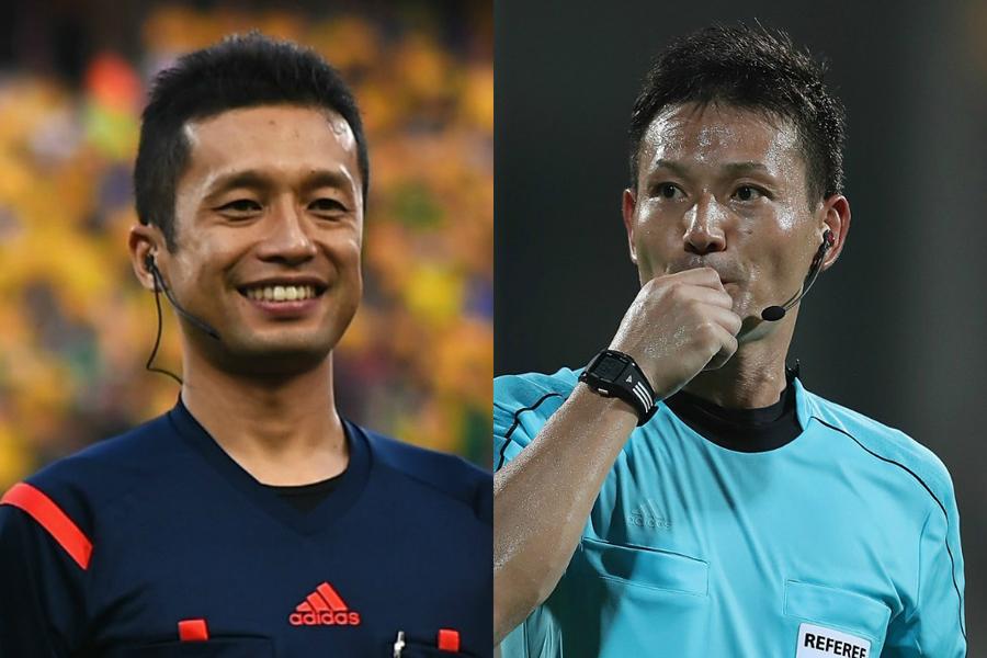 ロシアW杯の審判団に日本からは、相樂副審(左)と佐藤主審(右)が選出された【写真:Getty Images】