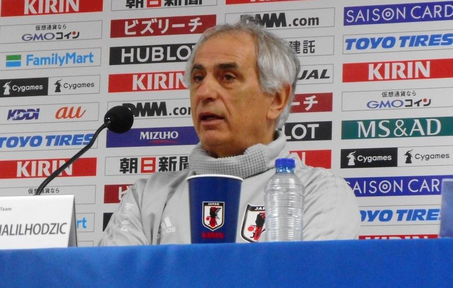 日本代表を率いるバヒド・ハリルホジッチ監督【写真:Football ZONE web】
