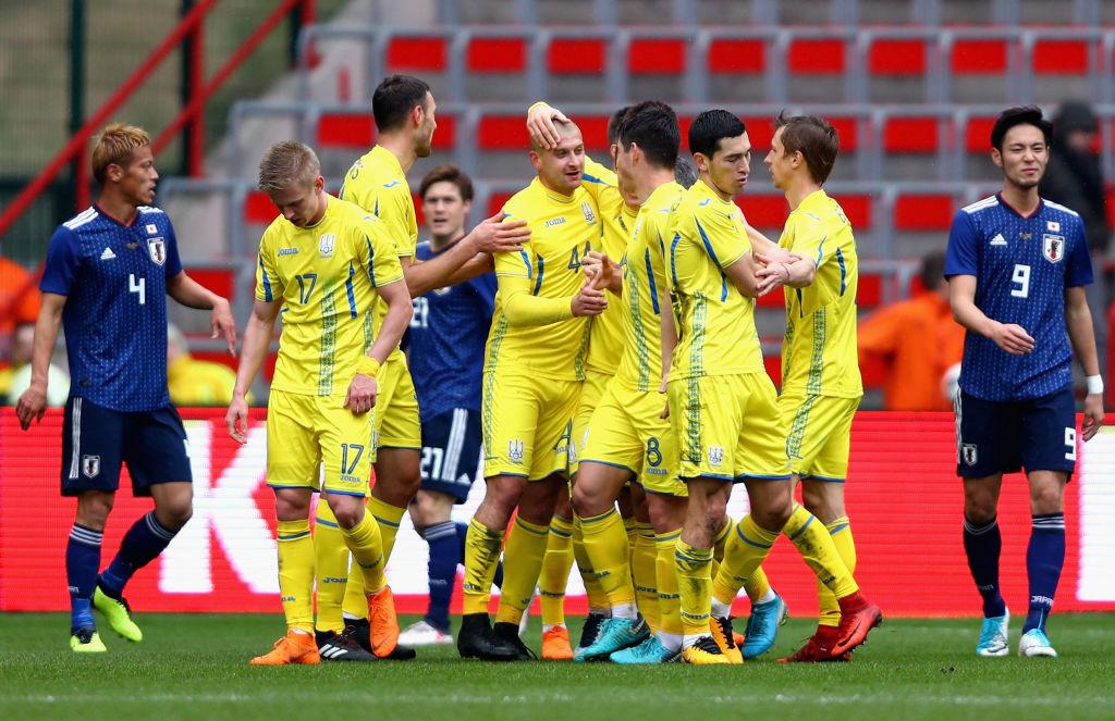 日本代表は27日、ウクライナ代表と国際親善試合を戦い、1-2で敗れた【写真:Getty Images】