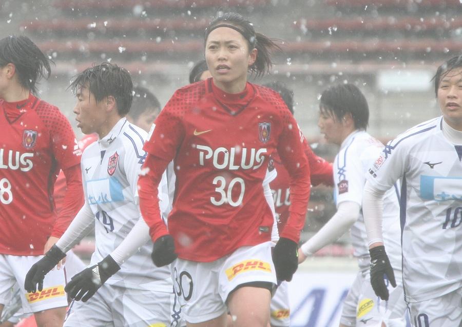 浦和レッズレディースFW安藤梢【写真:Football ZONE web】