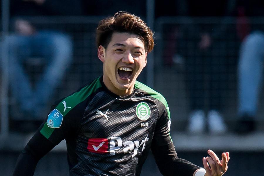 堂安律、今季リーグ戦8点目となるゴールでチームの勝利に貢献【写真:Getty Images】