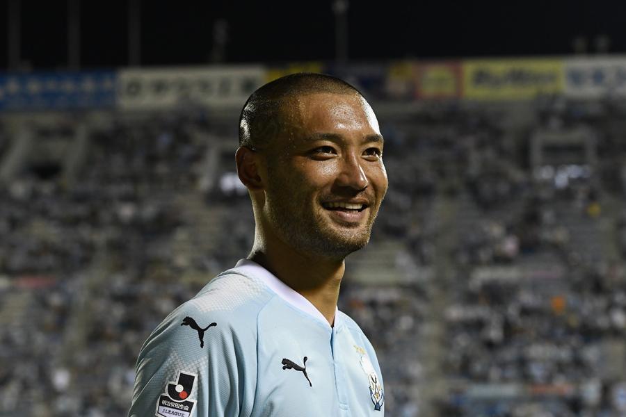 浦和戦で今季初ゴールを含む2得点の大活躍を見せた川又【写真:Getty Images】