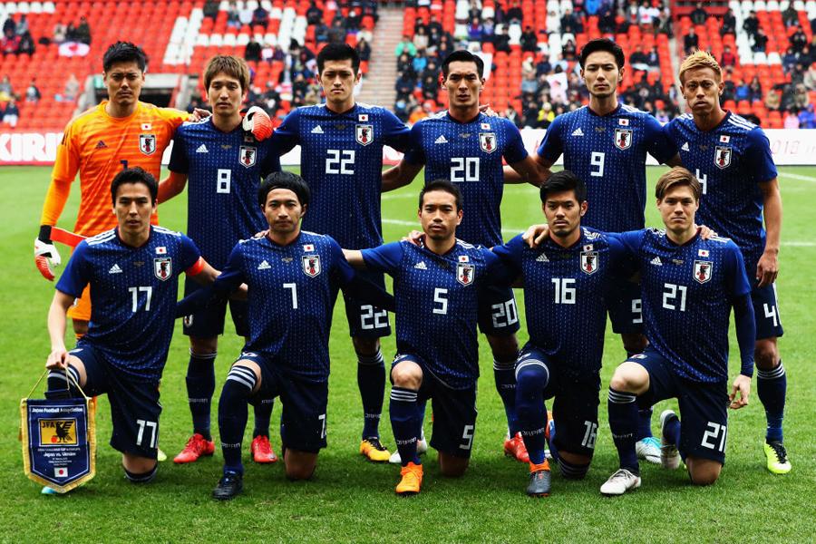 日本代表は6月のロシアW杯に向けた強化として3月のベルギー遠征を敢行し、マリ(1-1)とウクライナ(1-2)との2連戦を1分1敗で終えた【写真:Getty Images】
