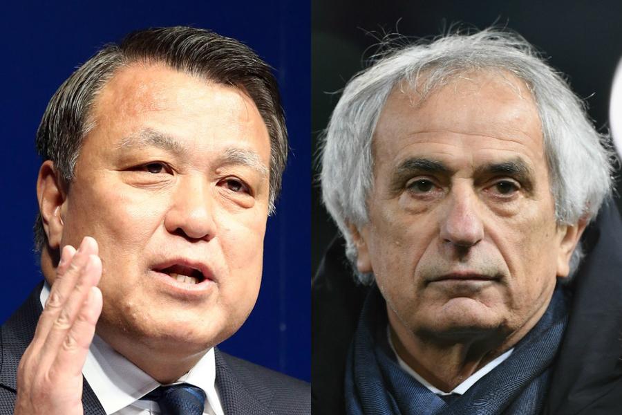 JFAの田嶋会長は、協会とハリル監督との間に対立関係はなかったと断言【写真:Getty Images】