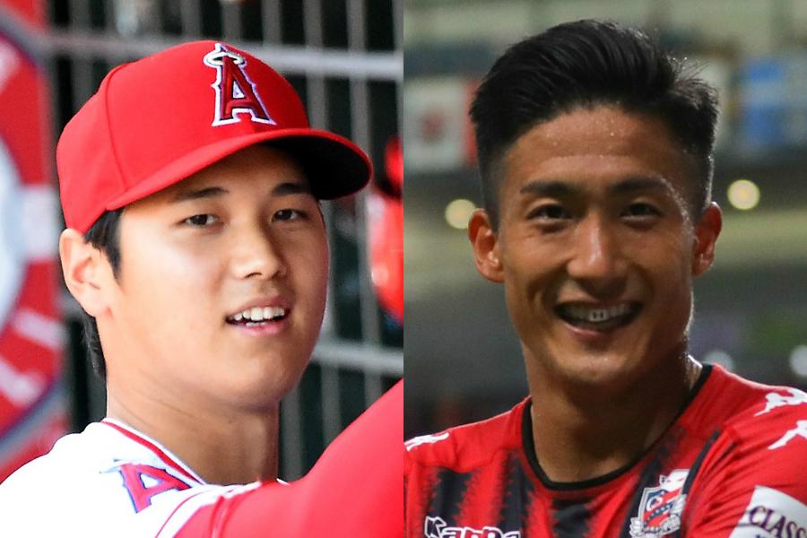 大谷(左)の活躍ぶりに都倉(右)も大きな衝撃を受けたようだ【写真:Getty Images】