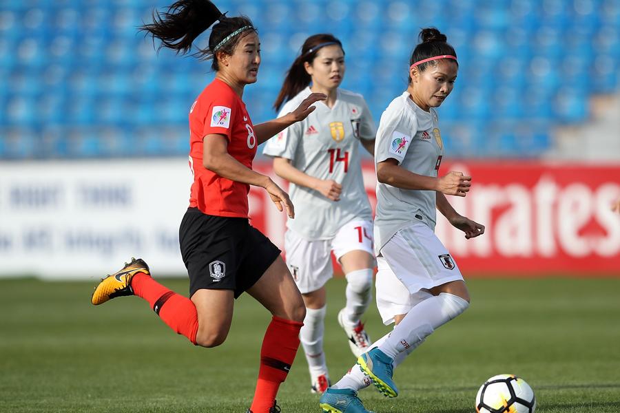 なでしこJ、アジア杯韓国戦0-0のまま後半へ【写真:Getty Images】
