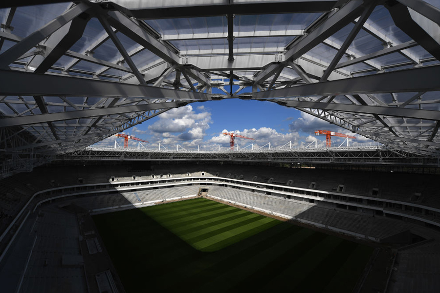 予行訓練が行われたカリーニングラードには、試合会場として使用されるカリーニングラード・スタジアムがある【写真:Getty Images】