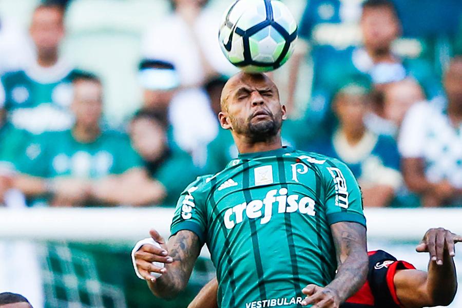 2017年から母国の名門パルメイラスでプレーする元ブラジル代表MFフェリペ・メロ【写真:Getty Images】