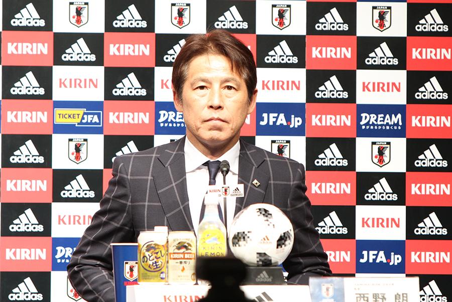 西野朗新監督は、就任記者会見を行った【写真:Football ZONE web】