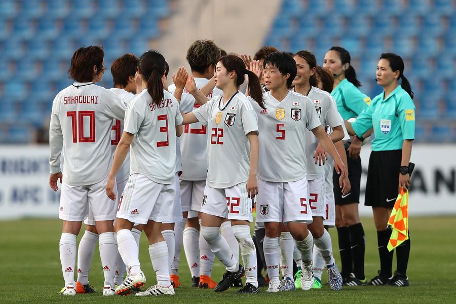 なでしこジャパンはオーストラリアに1-1で引き分け、B組2位でW杯出場権獲得と準決勝進出を果たした【写真:Getty Images】