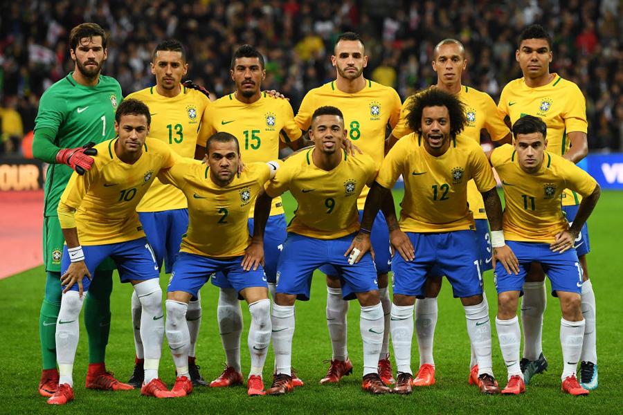 クロアチアと親善試合を行うことが決まったブラジル代表(写真は2017年11月14日の対イングランド戦)【写真:Getty Images】