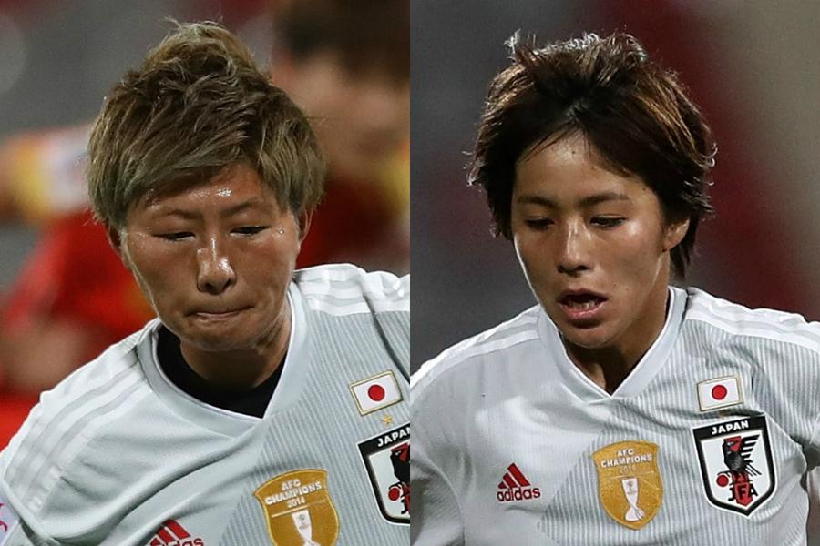 アジアカップ準決勝・中国戦でゴールを挙げた横山(左)と岩渕(右)【写真:Getty Images】