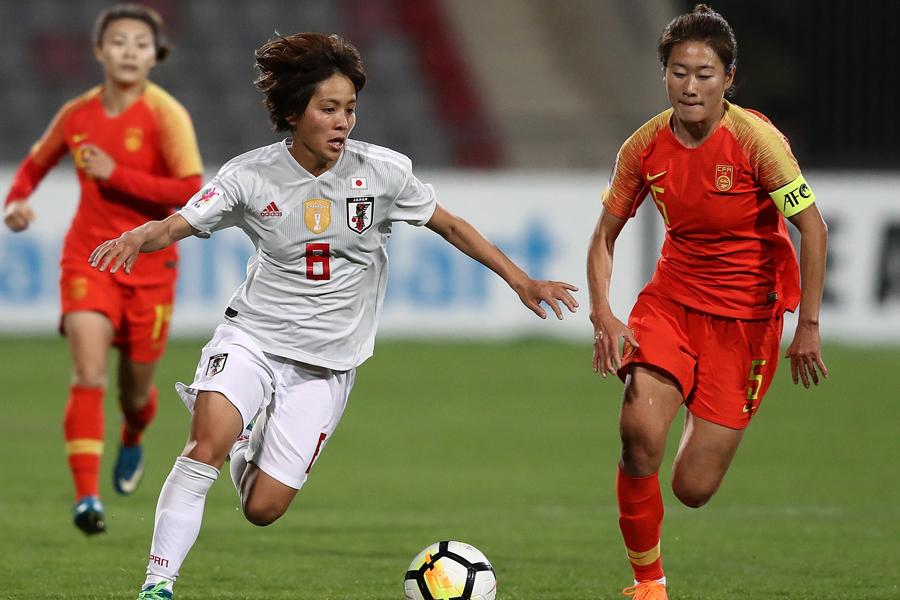 アジアカップ準決勝・中国戦で先制ゴールを挙げた岩渕【写真:Getty Images】