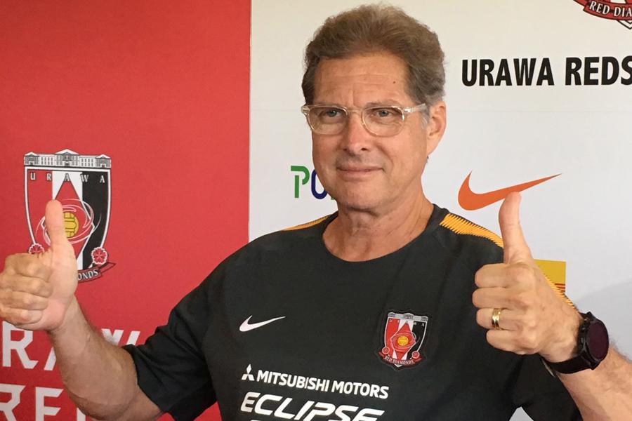 オリヴェイラ新監督はシーズン途中、それも15連戦の最中での就任について「理想的なタイミングではない」と言及【写真:Football ZONE web】