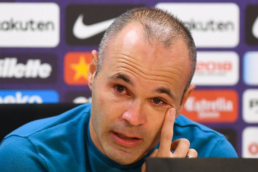 スペイン代表MFイニエスタがバルサ退団を発表した【写真:Getty Images】