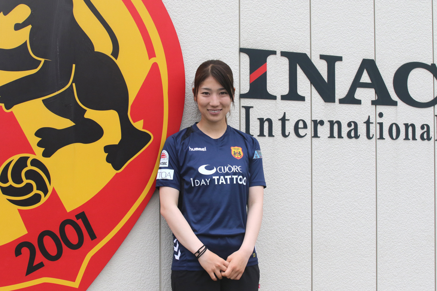 INAC神戸入団7年目の仲田【写真:Football ZONE web】