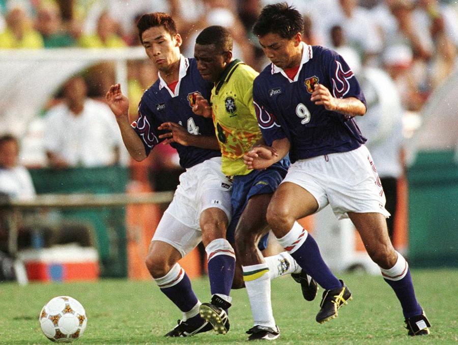 日本サッカー史に残る96年アトランタ五輪のブラジル戦勝利。城氏は西野監督の策がはまった結果と振り返る【写真:Getty Images】