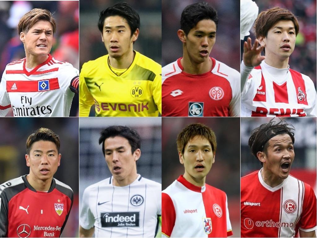 ブンデスリーガの日本人選手たち【写真:Getty Images】