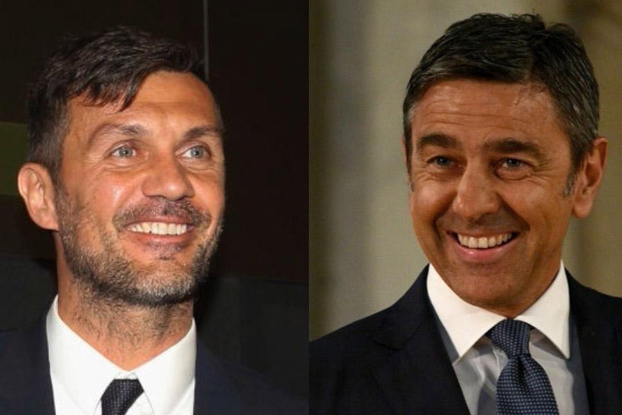 (左から)マルディーニとコスタクルタ【写真:Getty Images】