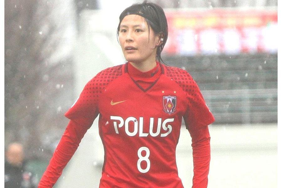 浦和レッズレディースの日本代表MF猶本光【写真:Football ZONE web】