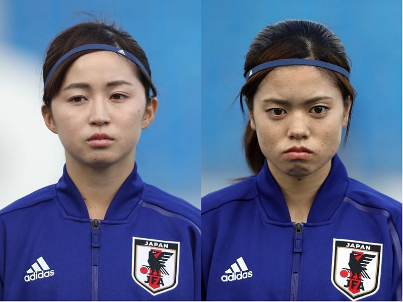 21歳コンビの清水梨紗と長谷川唯、2ショット写真公開【写真:Getty Images】