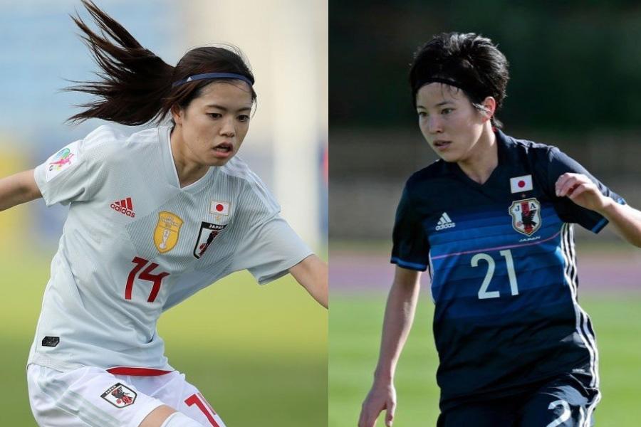 なでしこ(左)長谷川&(右)北川の2ショット写真が、「美人姉妹」と話題になっている【写真:Getty Images】