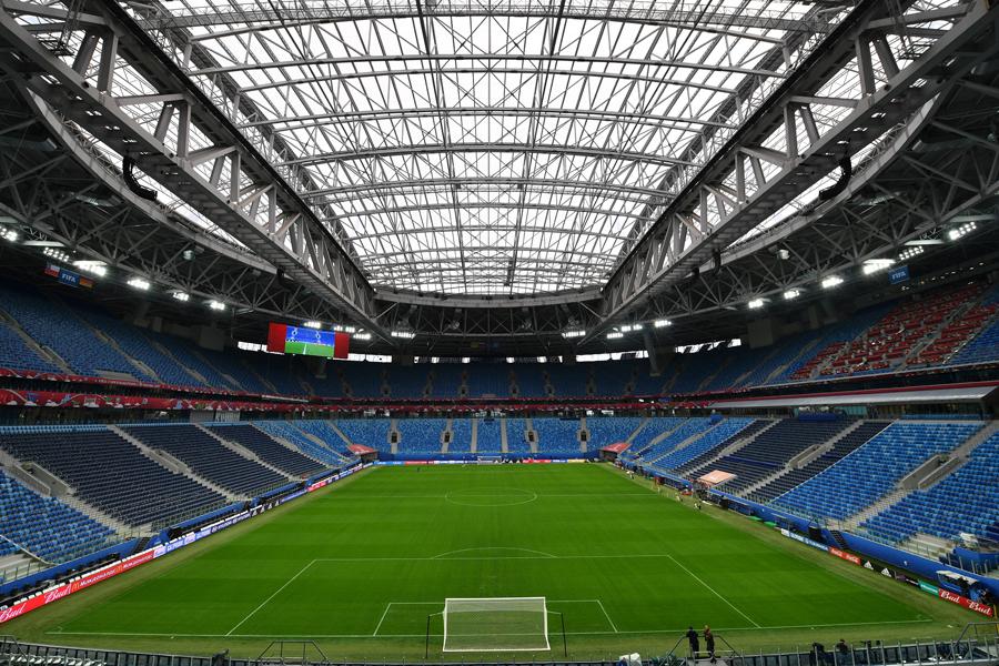 ロシアW杯で使用される、サンクトペテルブルク・スタジアム【写真:Getty Images】