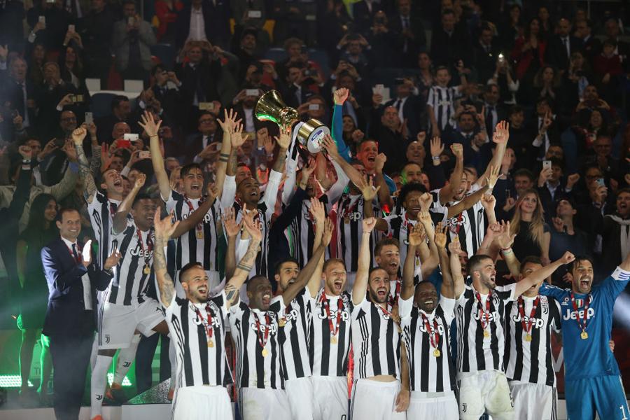 名門対決は4-0という大差でユベントスが4連覇を達成した【写真:Getty Images】