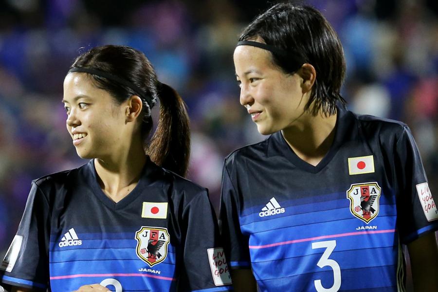 2016年のU-20W杯で日本代表として共闘した長谷川(左)と北川(右)【写真:Getty Images】