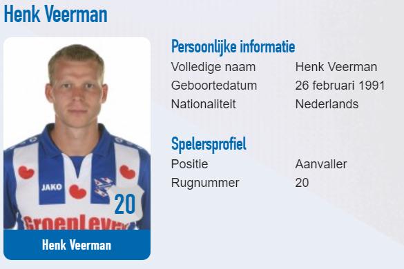 ヘーレンフェーンのオランダ人FWヘンク・フェールマン、華麗なルーレットに反響【写真:SC Heerenveen公式サイトのスクリーンショットです】