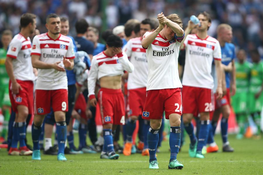ハンブルガーSVはクラブ史上初めて2部リーグ降格が決まった【写真:Getty Images】