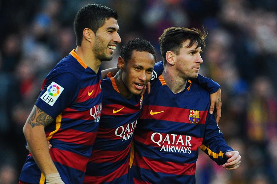 """昨季まで所属したバルセロナでメッシ、スアレスとの攻撃ユニット""""MSNトリオ""""についてネイマールが言及【写真:Getty Images】"""