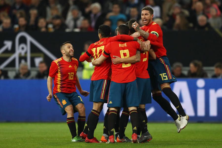 スペイン代表が、W杯に臨む23人を発表した【写真:Getty Images】