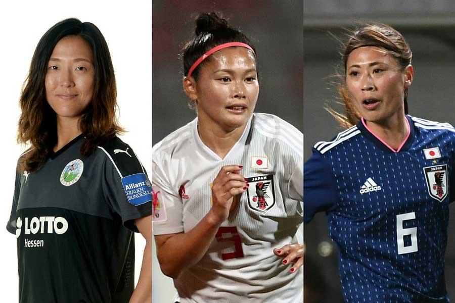 (左から)永里、川澄、宇津木【写真:Getty Images】