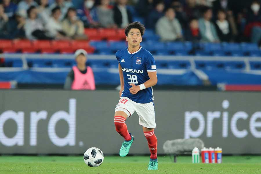 山田は長崎戦で、ついに主戦場とする中盤センターのポジションを勝ち取った【写真:荒川祐史】