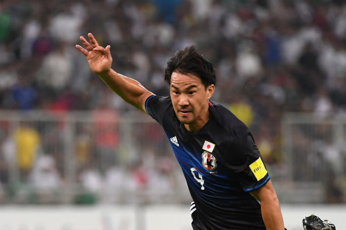 岡崎慎司が昨年9月のサウジアラビア戦以来となる復帰を果たした【写真:Getty Images】