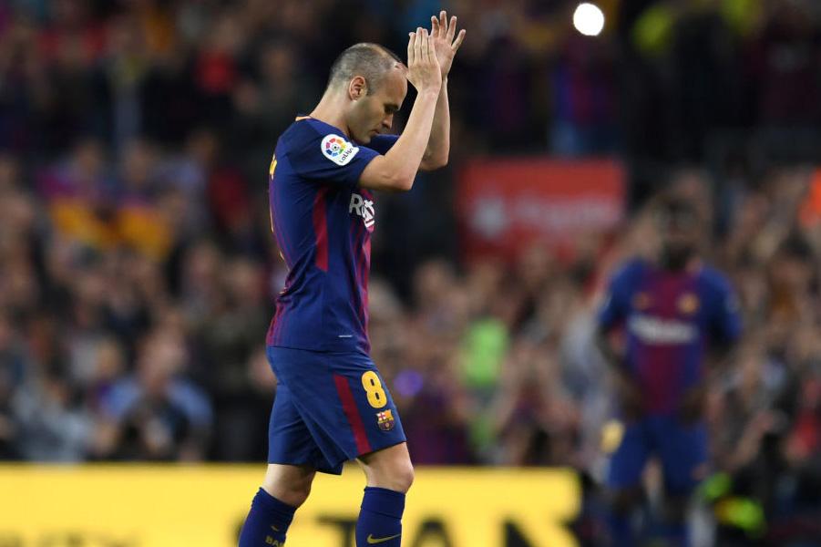 """今季限りでバルセロナを退団するイニエスタが、""""ラスト・クラシコ""""を「楽しんだ」と告白した【写真:Getty Images】"""