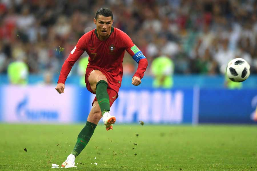 スペイン戦でハットトリックを達成したポルトガル代表FWクリスティアーノ・ロナウド【写真:Getty Images】