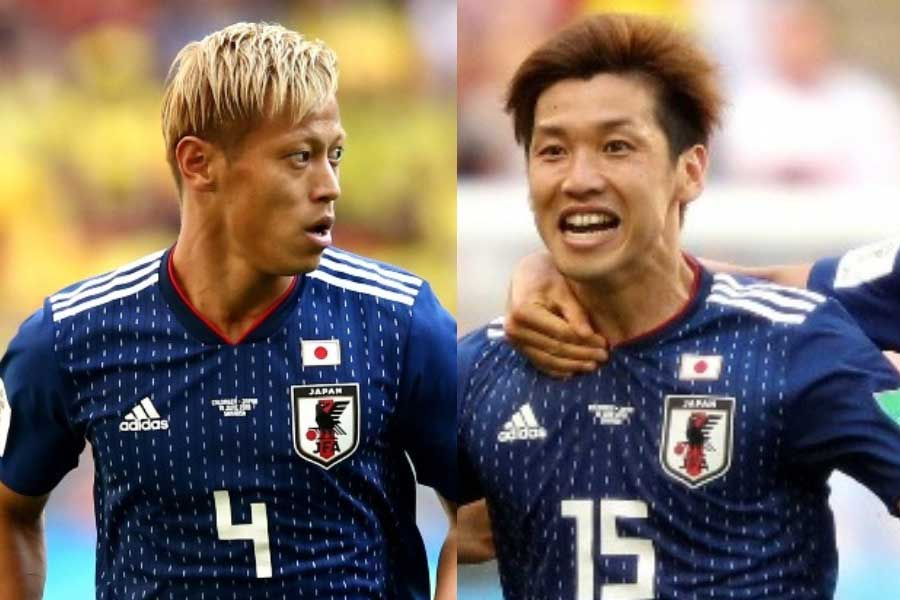 大迫勇也が試合後、本田圭佑への感謝の言葉を残している【写真:Getty Images】