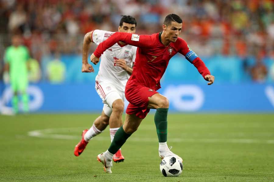 ポルトガルはイランを相手に試合終了間際の失点で1-1の引き分けとなった【写真:Getty Images】